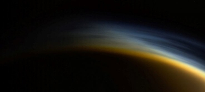 Titan's layered atmosphere on display.